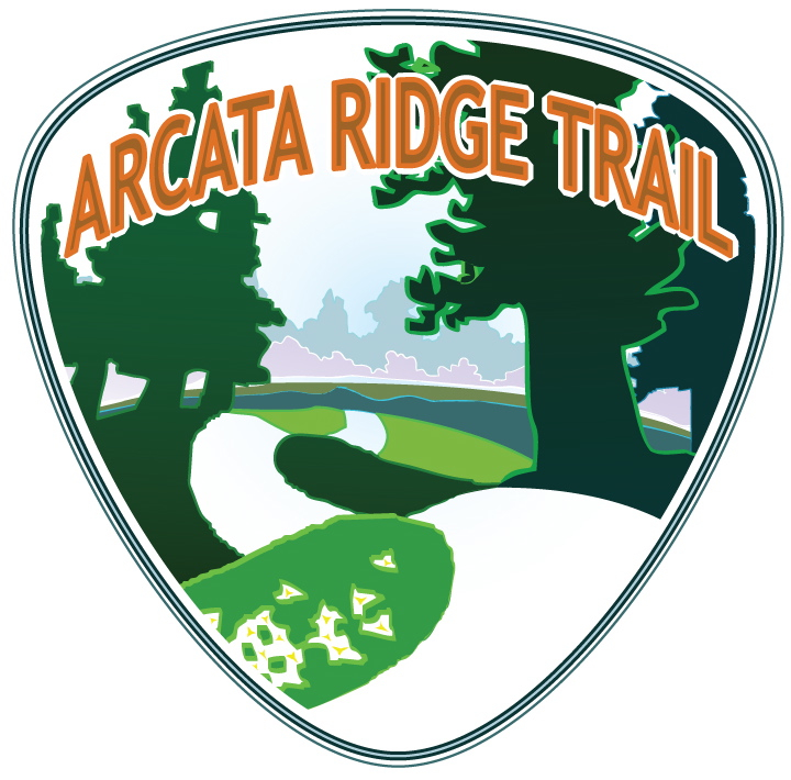 The Arcata Ridge Trail Logo by artist Dave Held. daveheld.com