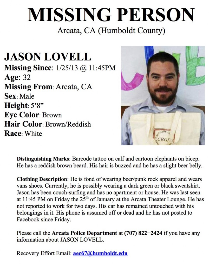 Jason Lovell Missing Person