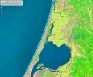 Arcata, 1999. Landsat image