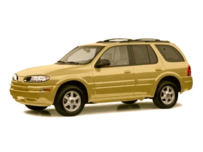 The suspect vehicle, a gold Oldsmobile Bravada.