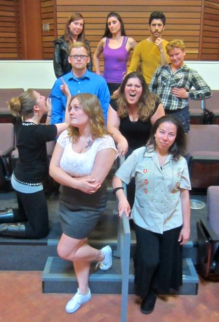 Front: Vanessa Vrtiak, Jennifer Bravo. Second row: Savannah Edwards, Matthew Lutwen, Klark Swan. Back row: Christin Hunter, Sofia Pereira, Sergio Coelho, Raven Oliver. KLH   Eye