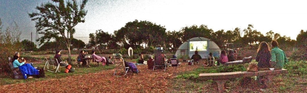The scene at last weekend's Flicks at the Farm at Bayside Park Farm. Next month's feature is Ratatouille.