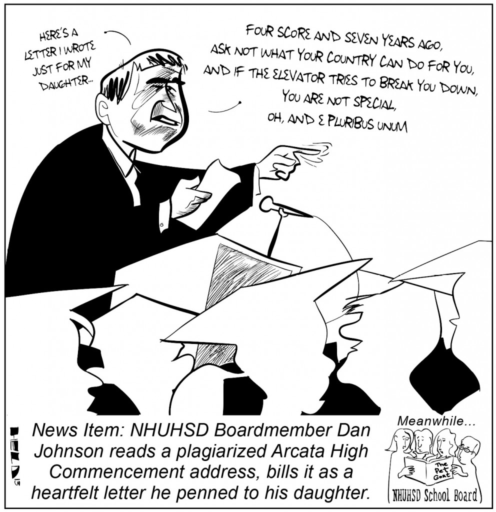 Dan Johnson cartoon by Dave Held