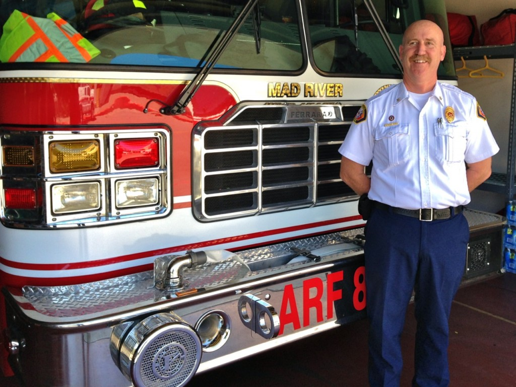 Newly named Arcata Fire Chief Desmond Cowan. KLH | Eye