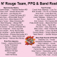 Bat N' Rouge Team, PPQ And Band Rosters Announced – September 5, 2011
