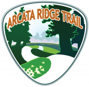 The Arcata Ridge Trail Logo by artist Dave Held. daveheld.com