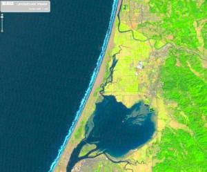 Arcata, 2009. Landsat image