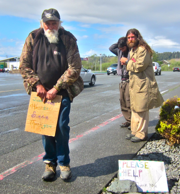 Travelers and panhandlers are associated with a rise in petty crime in Valley West.