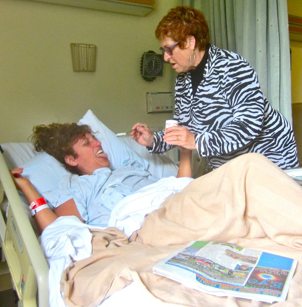 Sandy Scott force-feeds Debi Farber Bush carbs as the patient complains about her medical incarceration. KLH | Eye