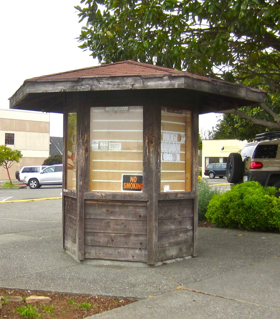 Co-op's increasingly underutilized information kiosk. KLH | Eye